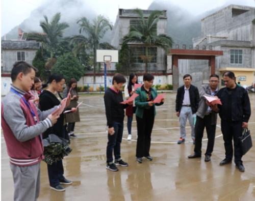 梁俊杰副主任到果乐乡中小学检查指导教育工作
