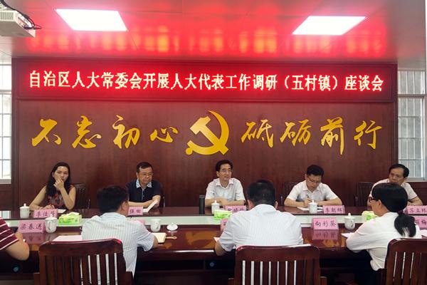 自治区人大常委会副主任张晓钦到我市调研代表工作
