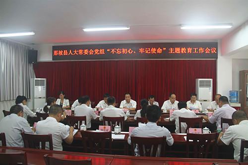 """那坡县人大常委会党组召开""""不忘初心、牢记使命""""主题教育工作会议"""