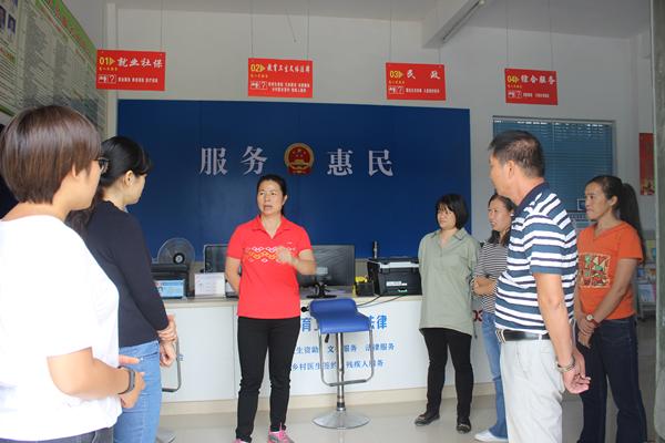 刘丽珍副主任深入各乡镇(街道)指导代表履职实体平台提档升级工作