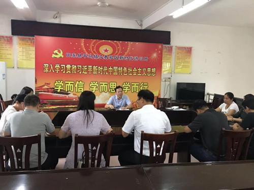周智华到平马镇开展基层党组织软弱涣散排查工作