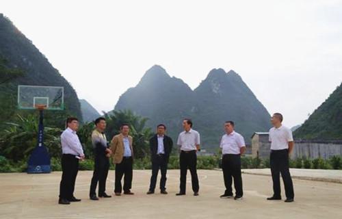 黄善平副主任率队到靖西市调研乡村规划建设管理工作