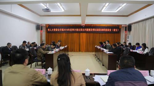 市人大常委会调研组到凌云县开展2018年度审计查出突出问题整改情况跟踪调研