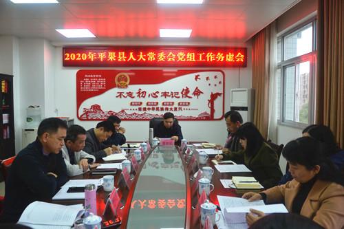 2020年平果县人大常委会党组工作务虚会召开