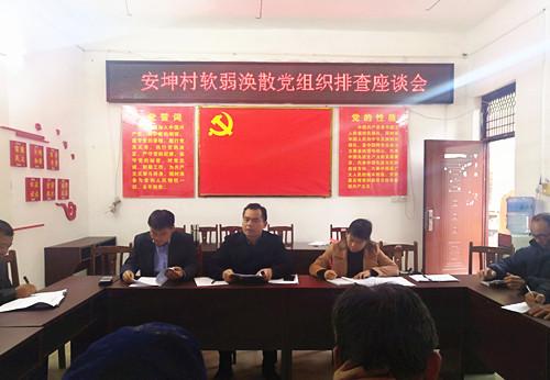 韦昌涛副主任到榜圩镇开展2019年村党组织整顿工作验收和2020年软弱涣散(后进)村排查整顿工作