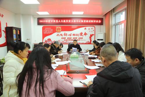 平果县人大机关党支部召开支部书记抓党建述职评议大会