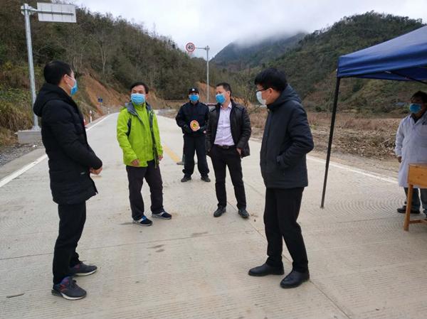 王自顺副主任到平塘乡检查指导疫情防控工作