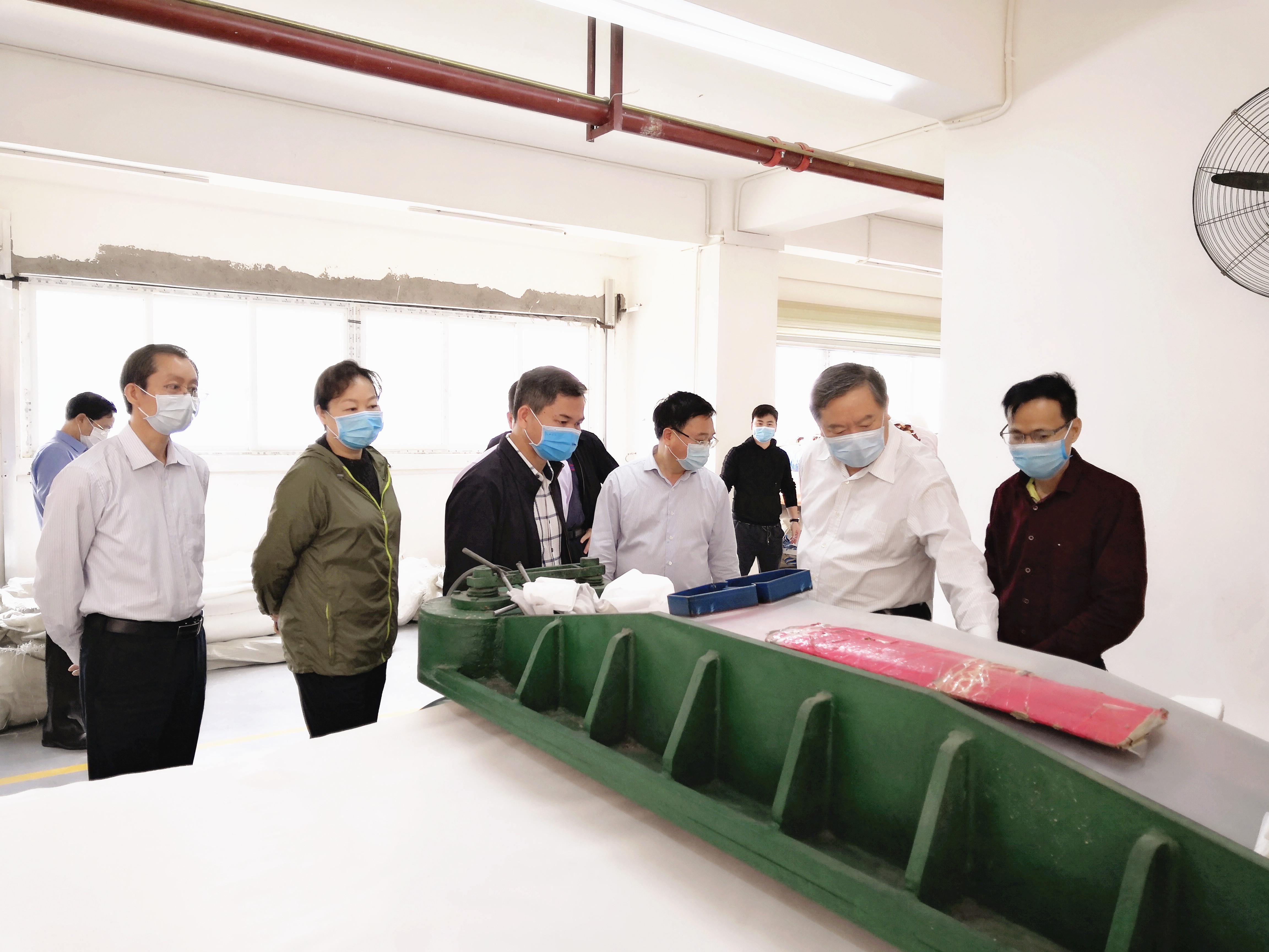 张秀隆到德保县开展疫情防控和复工复产工作调研