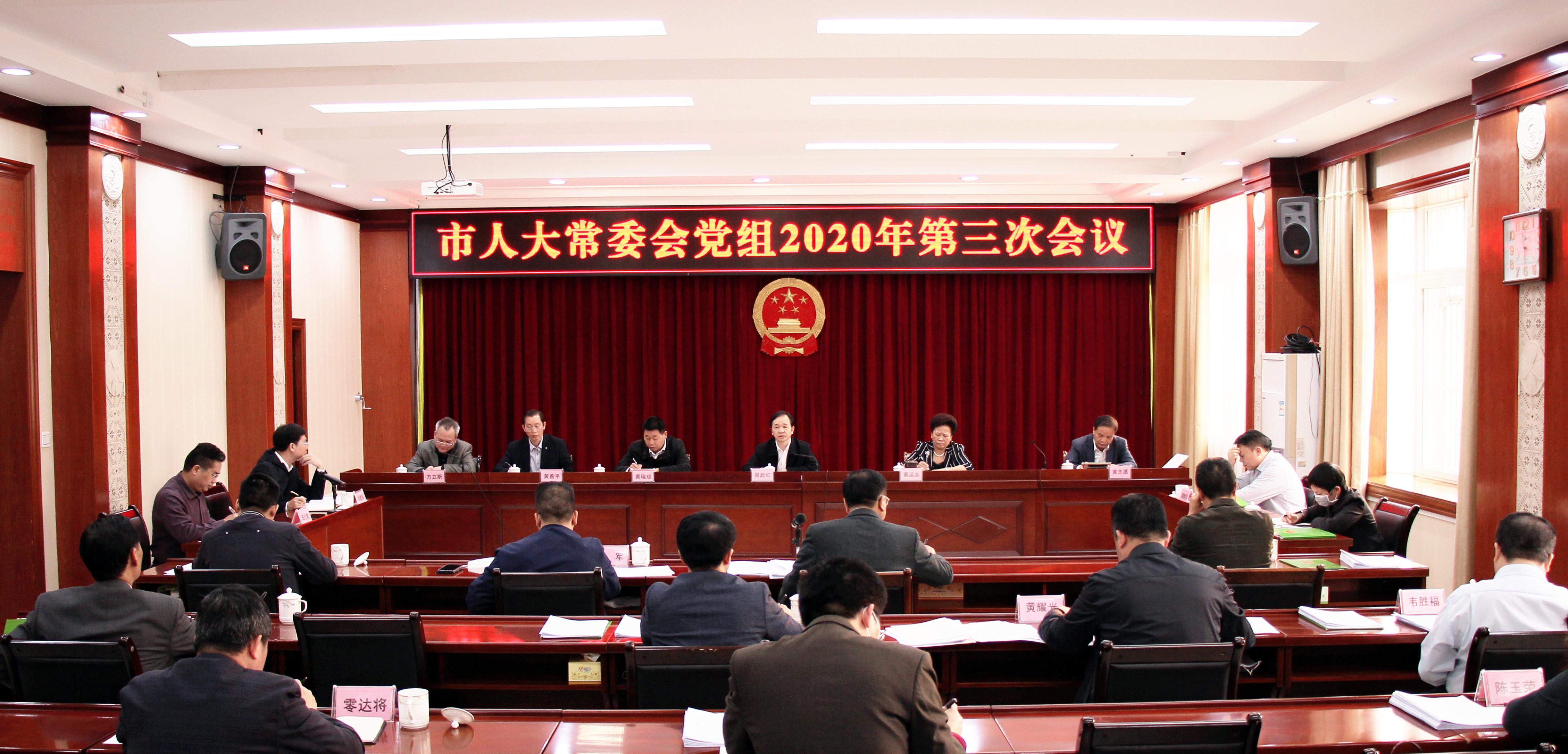 市人大常委会党组召开2020年第三次会议