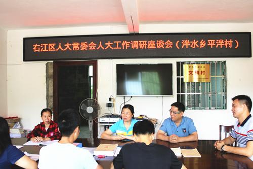 刘丽珍副主任到泮水乡指导人大代表工作