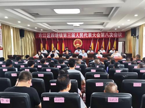 廖建军副主任深入四塘镇指导人大代表会议工作
