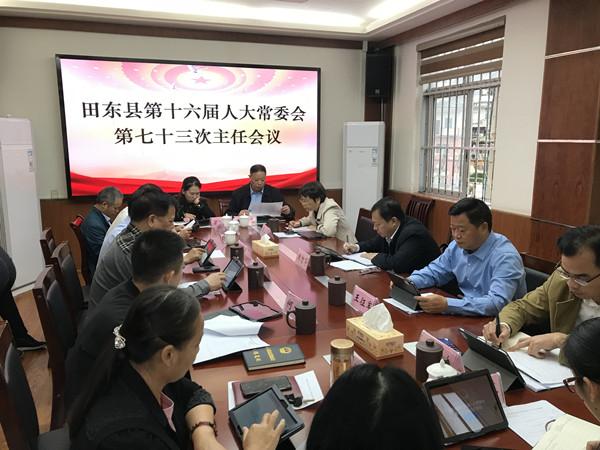 田东县召开第十六届人大常委会第七十三次主任会议