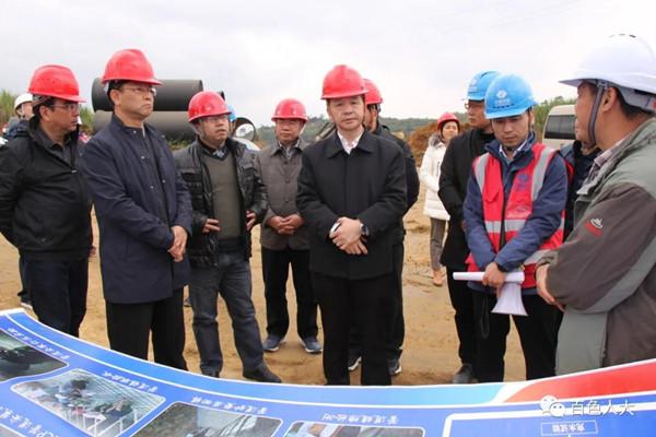 周武红率队开展推进广西桂西北治旱百色水库灌区工程建设调研