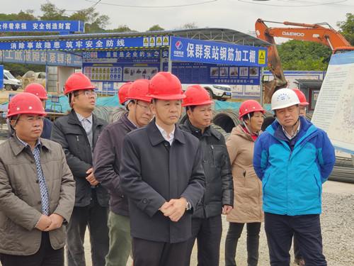 百色市人大常委会调研组到田东县开展推进广西桂西北治旱百色水库灌区工程调研