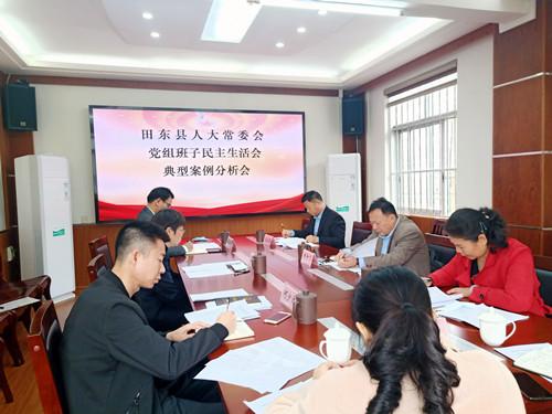 田东县人大常委会党组班子召开2020年度民主生活会典型事例分析会