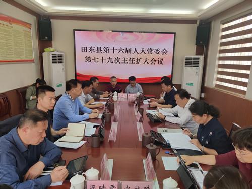 田东县召开第十六届人大常委会第七十九次主任会议