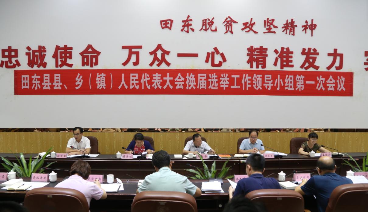 田东县县、乡(镇)人民代表大会换届选举工作领导小组召开第一次会议