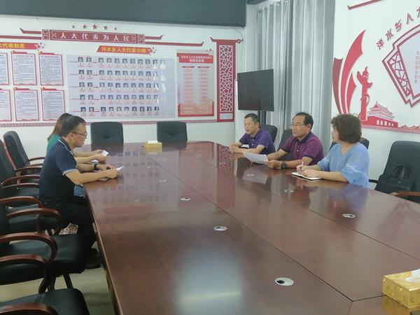 韦恩龙到泮水、阳圩镇检查指导区乡人大换届选举工作