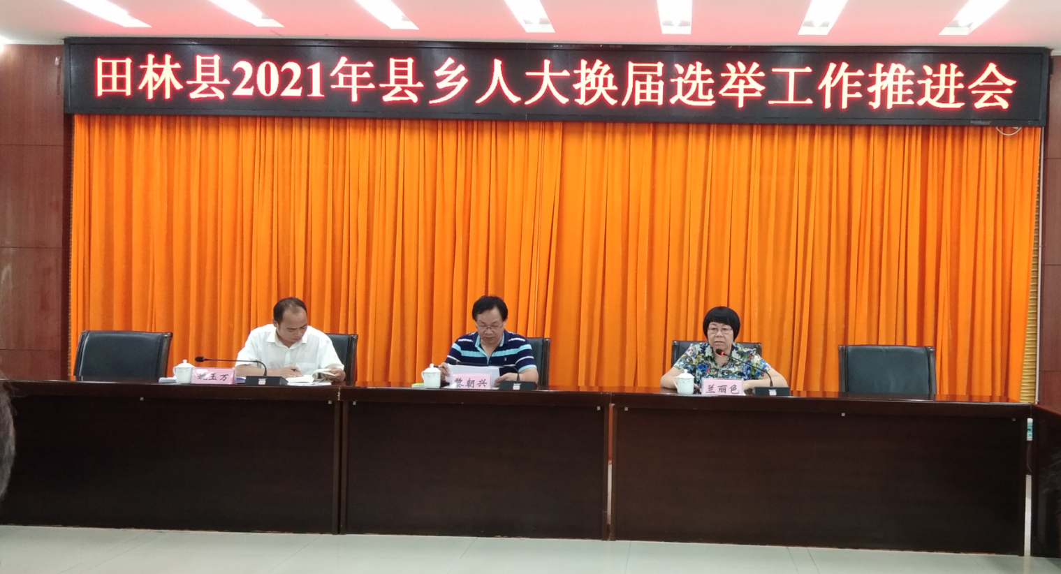 田林县召开县乡人大换届选举工作推进会