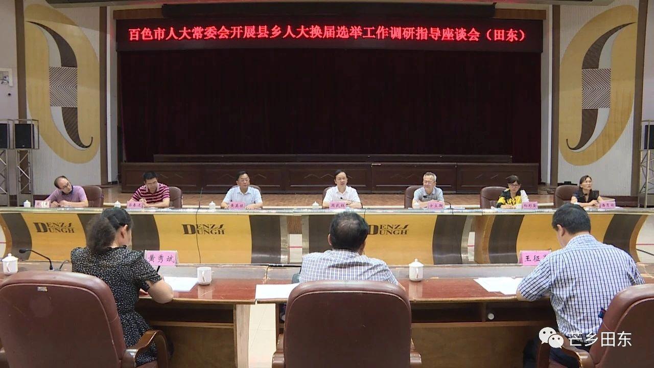 周武红到田东县调研指导县乡人大换届选举工作