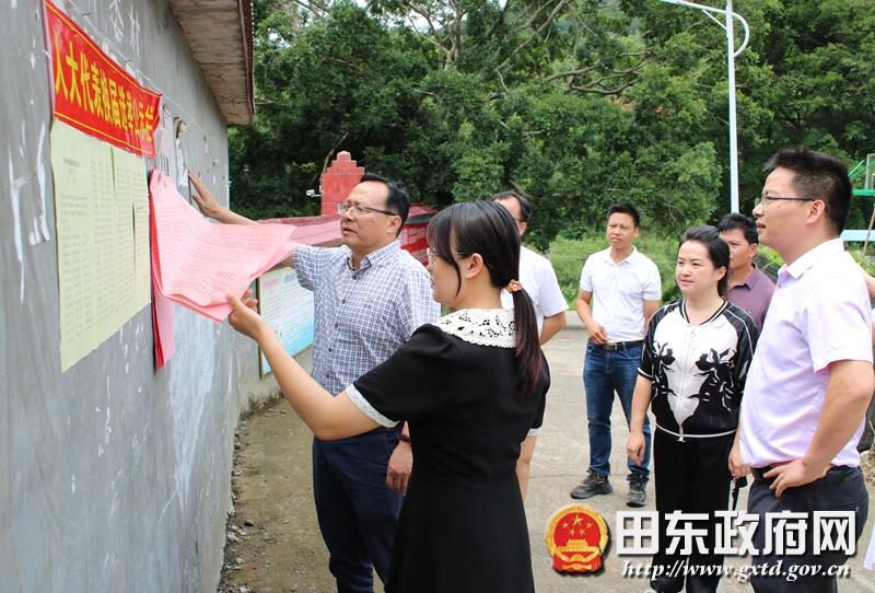 周智华到义圩、那拔、朔良镇检查指导县、乡(镇)人大换届选举工作