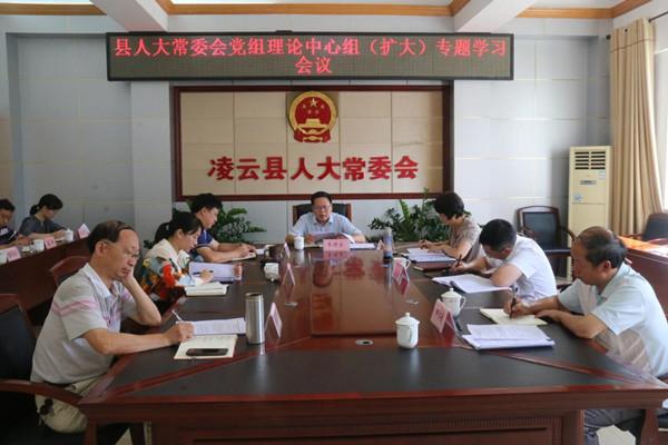 凌云县人大常委会召开党组理论中心组(扩大)专题学习会议