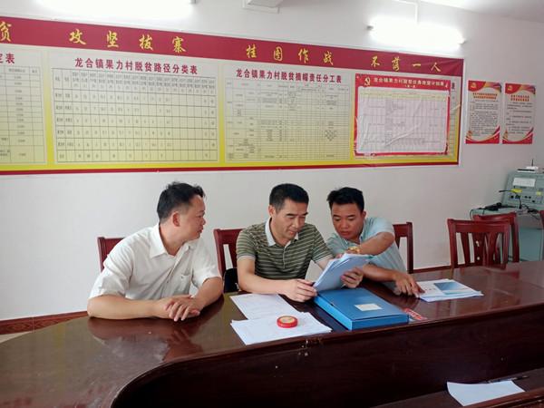 余炎先副主任到龙合镇果力村检查指导县乡人大代表换届选举工作