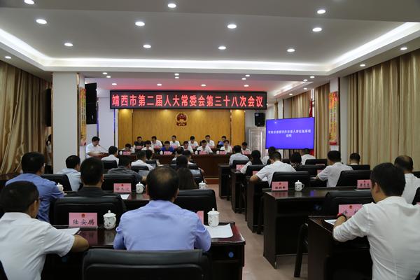 靖西市二届人大常委会第三十八次会议召开