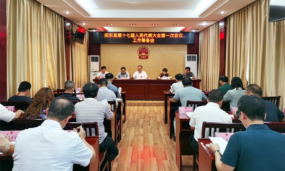 田东县召开第十七届人民代表大会第一次会议筹备工作会议
